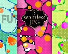 Seamless art design with polka dots. by Futurel on @creativemarket