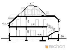 Projekt domu Rezydencja w Myślenicach 2 - ARCHON+ Beautiful House Plans, Modern House Plans, Beautiful Homes, Bungalow Floor Plans, House Design Pictures, Duplex House Design, Minimalist Home, My House, How To Plan