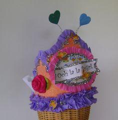 Fancy Nancy  Hat - Crown -  Ooh La La Party Girl - Birthday hat. $24.00, via Etsy.