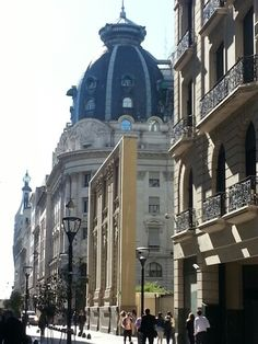 Microcentro en Buenos Aires. Atquitectura, cúpulas