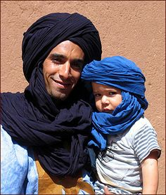 Berber man and son