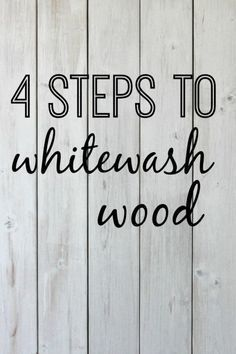 4 steps to whitewash wood | DIY tutorial for whitewashing a wooden pallet. http://www.thedempsterlogbook.com