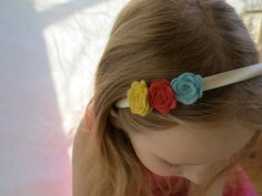 Floral Headband with Mini Roses by therootstudio on Etsy, $12.00