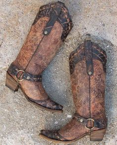 Corral Floral Cowboy Boot - Women's Shoes | Buckle
