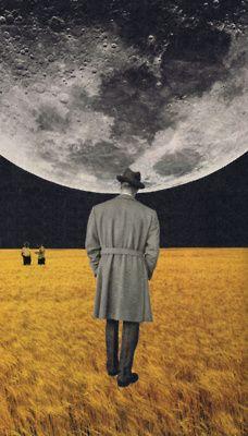 moon on the man.