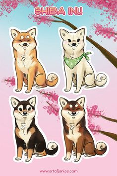 Shiba Inu stickers by TheJindoDogShop on Etsy