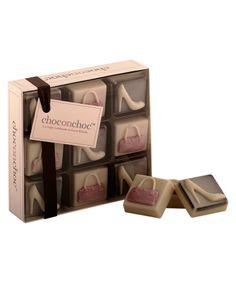Choc on Choc 9 Block Heels and Handbag Chocolate Box, 90g