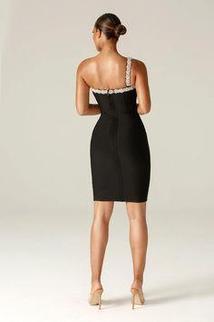 Diva Rhinestone Bandage dress (Black) Black Bodycon Dress, Dress Black, Diva, Bodice, Formal Dresses, Celebrities, Womens Fashion, Model, How To Wear