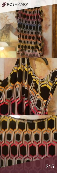 Beautiful cold shoulder top Colorful stylist top. Trendy cold shoulder... Multi-color. Rafaella Tops Blouses