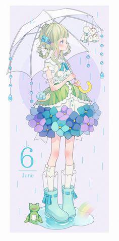 Anime Girl Cute, Kawaii Anime Girl, Kawaii Art, Anime Art Girl, Anime Girls, Anime Chibi, Chica Anime Manga, Illustration Kawaii, Japon Illustration
