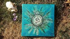 Henna Om  Acrylic Painting on Canvas by Lunattic on Etsy, $30.00