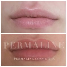 Lip permanent makeup. Cosmetic tattoo, lips. Immediately after procedure.