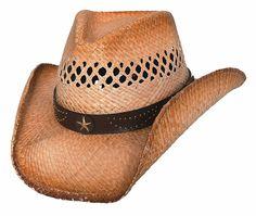 40fa1dde7f4 Bullhide Alanreed - Raffia Straw Cowboy Hat - CH11FLHY90V