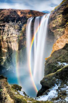 Waterfalls   Skogafoss, Iceland by Eddie Lluisma