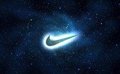 Glowing Nike logo wallpaper