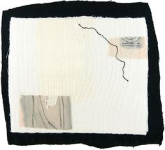 10.31.2012: small art quilt: breeze through the window / the teacup on a table / be in this moment: Karen Anne Glick