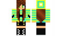minecraft skin Blue-and-yellow-mustache-girl