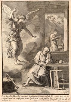 Francesco Polanzani | 1700-ca. 1783 | The Angel Appearing to St. Joseph in the Carpenter's Shop; the Virgin Reading Beyond | The Morgan Library & Museum