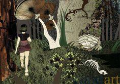 Julie Keupen, Dichter Wald, Tusche, Macrofotografie, A2, 2009, 490 €
