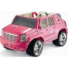 Power Wheels Fisher-Price Barbie Cadillac Hybrid Escalade EXT - Pink. My child WILL own this.