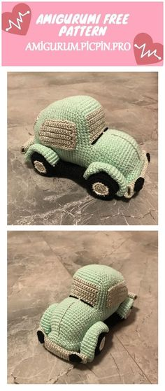 We continue to provide you with the latest recipes related to Amigurumi. Amigurumi classic car free crochet pattern is waiting for you. Crochet Beanie Pattern, Crochet Patterns, Crochet Toys, Free Crochet, Ruby Red, Free Pattern, Classic Cars, Dolls, Chain
