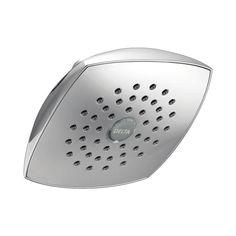 Shop Delta 5.25-in 2.0-GPM (7.6-LPM) Chrome 1-Spray WaterSense Rain Showerhead at Lowes.com