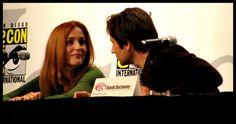 Gillian Anderson and David Duchovny Wonder Con 2008