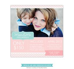 Mother's Day Mini Session template - PSD Newsletter template - E766. $8.00, via Etsy.