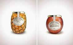 La Vieja Fabrica :  The shape of the marmalade's jar is a way of recognition of the product: jars are really detailed and directly provide information on the flavour of the marmalade. That gives a sensation of freshness.  The labels use old-fashioned colours and graphology to anchor the notion of an authentic marmalade, produced with an old-fashion how-know.   Jars are in glass, which is common for marmalade but the original designs of the product confirm the brand premium positioning.