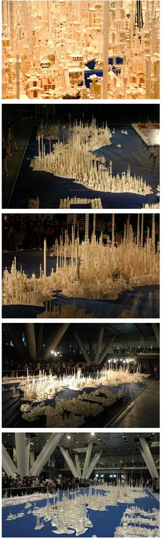 Futuristic Map of Japan built from 1.8 Million LEGOs