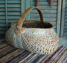 Old Worn Blue Basket...