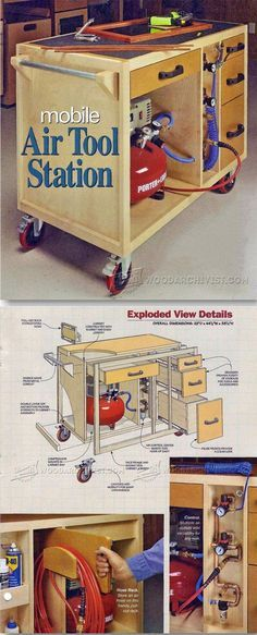 Mobile Air Tool Station - Workshop Solutions Plans, Tips and Tricks | WoodArchivist.com