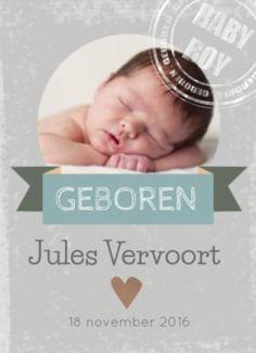 rechthoekig foto geboortekaartje