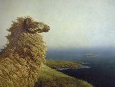 Jamie Wyeth, The Islander, 1972, oil on canvas. So regal!