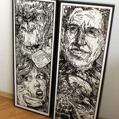 100x35 Linocut's by Oskar Jamrozek for more: https://www.facebook.com/RDESTBYLINA/