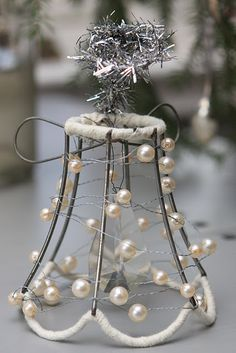 For Barbara's lamp shades-mini lampshade wire ornament......