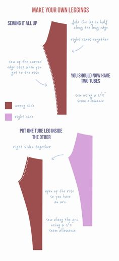 How to sew your own leggings