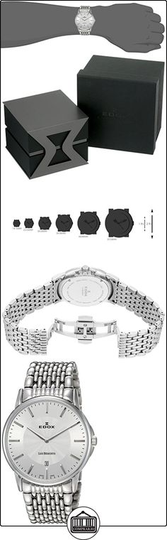 EDOX 56001 3M AIN - Reloj para hombres, correa de acero inoxidable color plateado de  ✿ Relojes para hombre - (Lujo) ✿