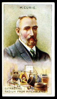 """Hill's Cigarettes """"Inventors & Their Inventions"""" (series of 20 issued in Pierre Curie ~ extracting radium Marie And Pierre Curie, Marie Curie, Scientific Inventions, Smoking Is Bad, Matchbox Art, Man Images, New York Public Library, Science Education, Vintage Labels"""