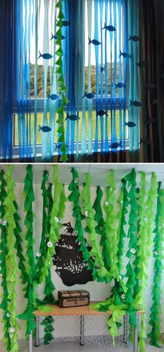 "Sometimes, kid's room decor needs to change according to the season, such as when it is getting into summer, the ""under the sea"" theme would be perfect for your home. Either your kid loves sea creatures or be a mermaid fan, there is an under-the-sea decor Balloon Party Games, Ballon Party, Balloon Ideas, Under The Sea Theme, Under The Sea Party, Under The Sea Crafts, Under The Sea Decorations, Fish Party Decorations, Decoration Crafts"