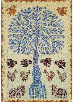 Rastogi Handicrafts Home Decor Wall Decor Tree of Life Table Cloth Patch Work Small Tapestry (33 x 24) ** For more information, visit image link. (This is an affiliate link) #Tapestries