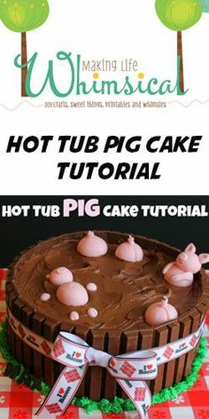 Pigs in a hot tub cake - i love how this is a thing.