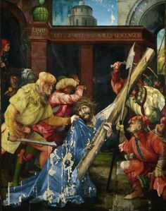 Matthias Grünewald,  Christ is carring the cross (Kreuztragung Christi) 1523-25, 196 x 152 cm,  Staatliche Kunsthalle Karlsruhe © Fokus GmbH Leipzig, 2013