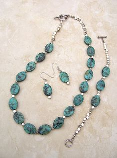 Handmade Turquoise Jewelry, Turquoise and Silver by GodivasJewelryBox, $85.00