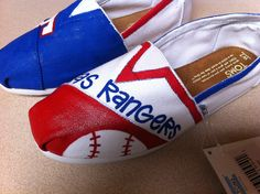 Texas Rangers TOMS by DesignsByMicahInc on Etsy