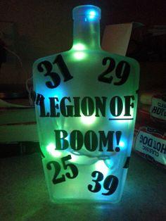 Legion of Boom Seahawk Bottle Light by CraftyMcCoy on Etsy, $30.00