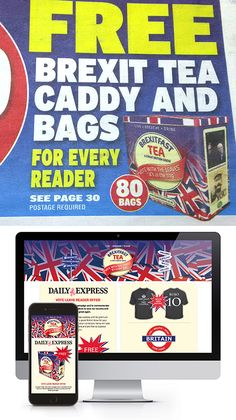 Read all about it! Our Brexit Tea Caddy design makes front page news in the Express. Whilst the 'IN/OUT' debate continues here at The PD Group ahead of tomorrow's referendum, check out our latest website: http://brexitfasttea.co.uk