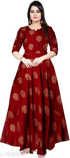 Kurtis & Kurtas Banita Pretty Kurtis Fabric: Rayon Sleeve Length: Three-Quarter Sleeves Pattern: Printed Combo of: Single Sizes: XL (Bust Size: 42 in, Size Length: 48 in)  Country of Origin: India Sizes Available: M, L, XL, XXL   Catalog Rating: ★4 (457)  Catalog Name: Women Rayon Anarkali Printed Mustard Kurti CatalogID_3167882 C74-SC1001 Code: 053-15927491-948