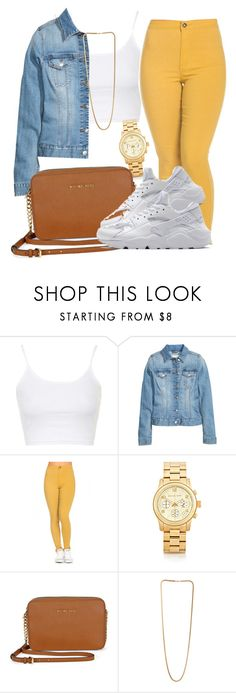 """??"" by bestdressed101 ❤ liked on Polyvore featuring Topshop, H&M, Michael Kors and NIKE"