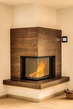 Latest Snap Shots Corner Fireplace modern Style Place fire places offer you variety advantages to persons by using accumulating rooms good as well as small. Log Burner Fireplace, Fireplace Frame, Build A Fireplace, Fireplace Tv Stand, Bedroom Fireplace, Diy Outdoor Fireplace, Home Fireplace, Fireplace Remodel, Modern Fireplace